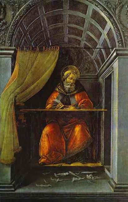Sandro Botticelli St. Augustine in Cell